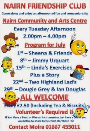 Friendship Club events in July
