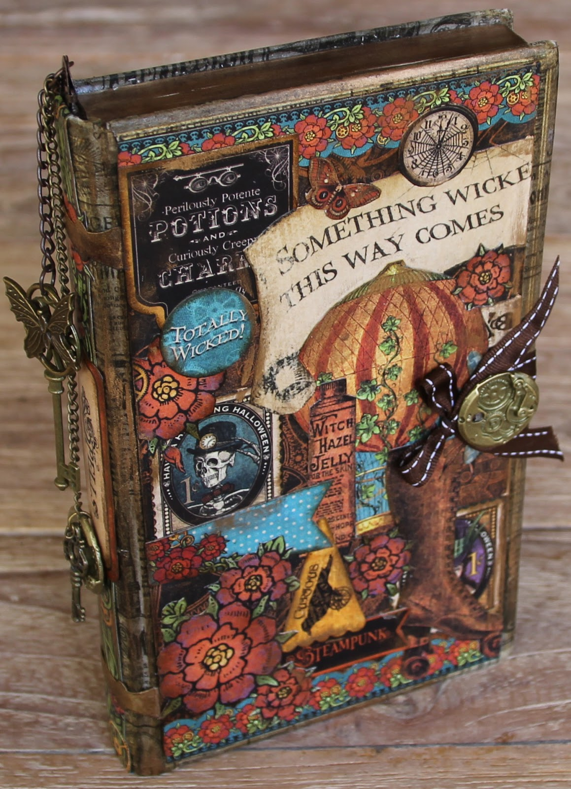 Diy Unicorn Book Cover : Scrapping on the edge flying unicorn little book of spells