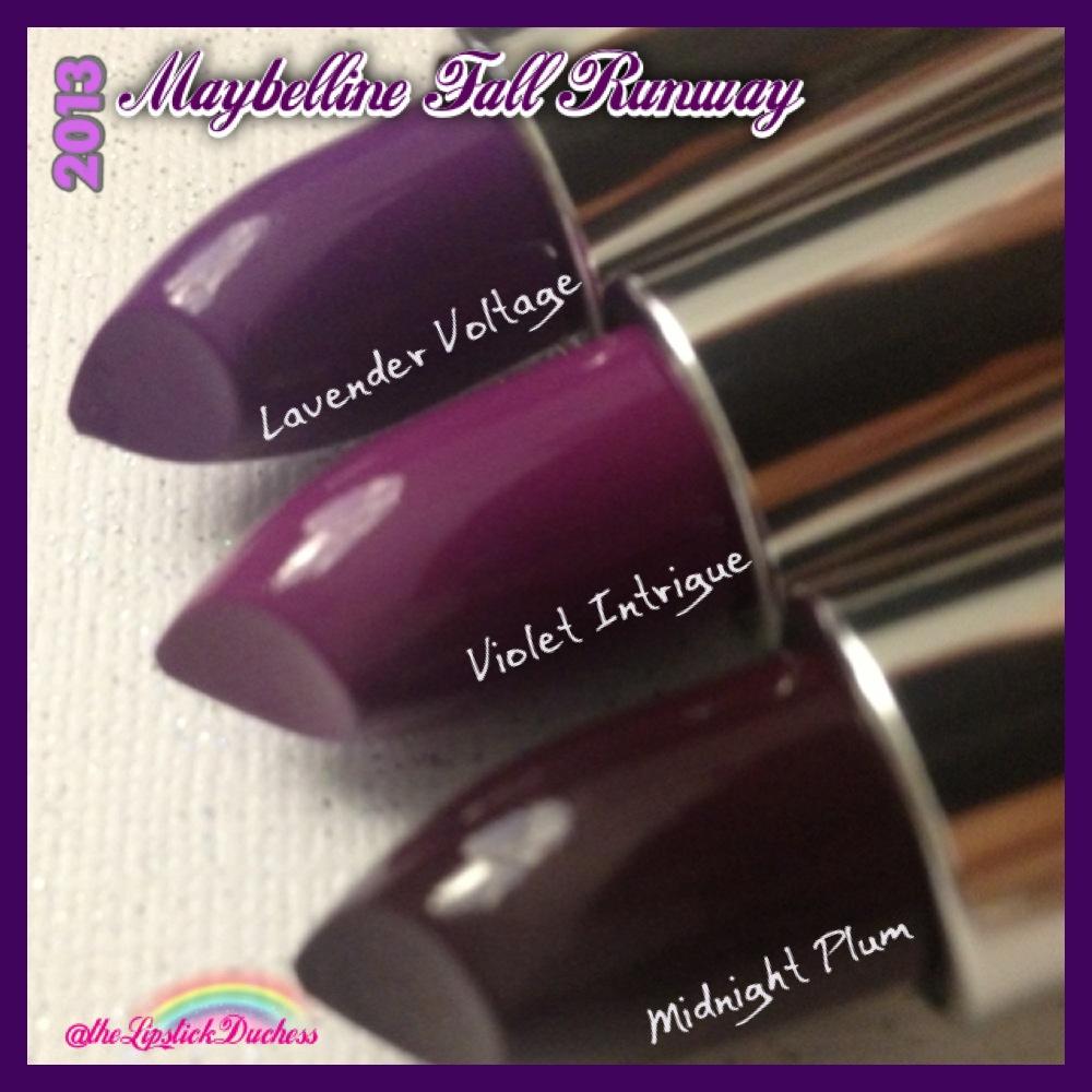 The Lipstick Duchess: Maybelline Fall 2013-Limited Edition Purple ...