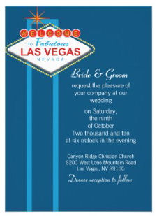 Las Vegas Wedding Invitations