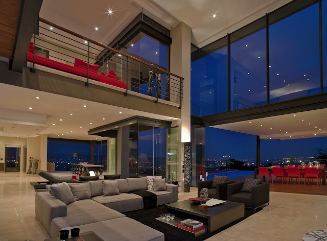Picture of the living room inside of dream home in South Africa