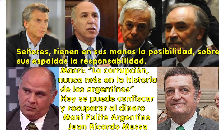 MANI PULITE ARGENTINO, HOY SE PUEDE RECUPERAR TODO LO ROBADO