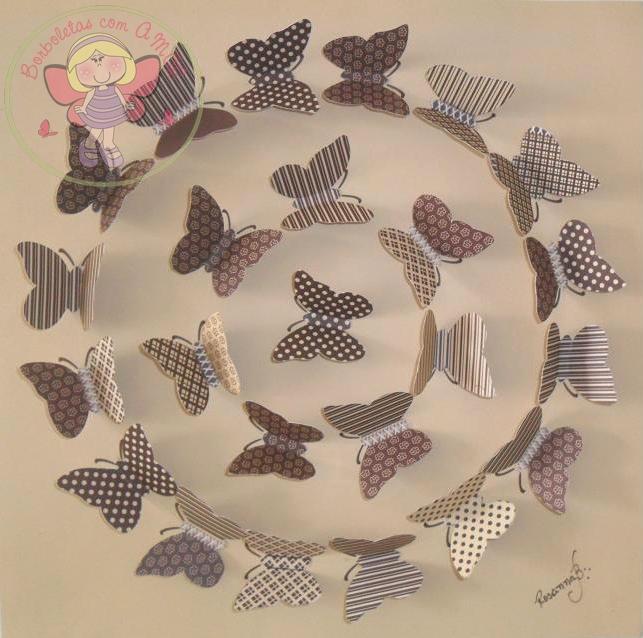 BORBOLETAS COM AMOR: Quadro com borboletas