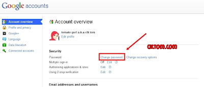 Tukar password blog 2