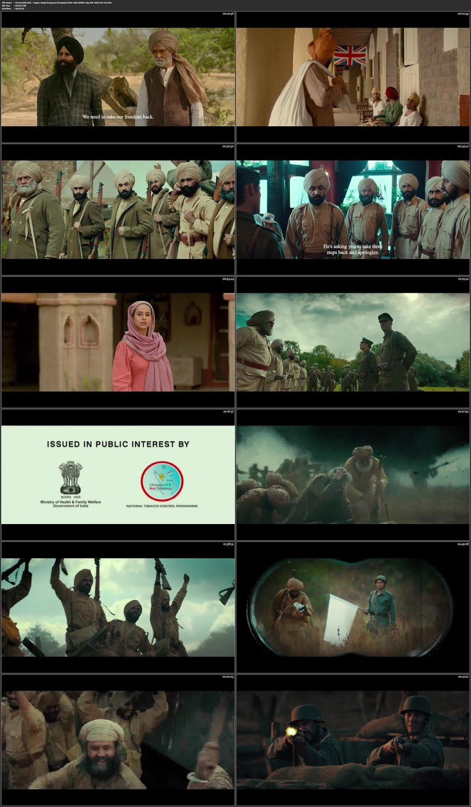 Sajjan Singh Rangroot 2018 Punjabi Movie 300MB WEB HD 480p