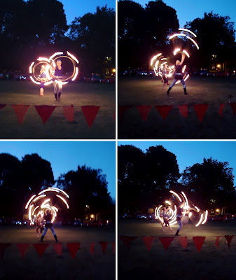 Hooping with fire by Poi Passion
