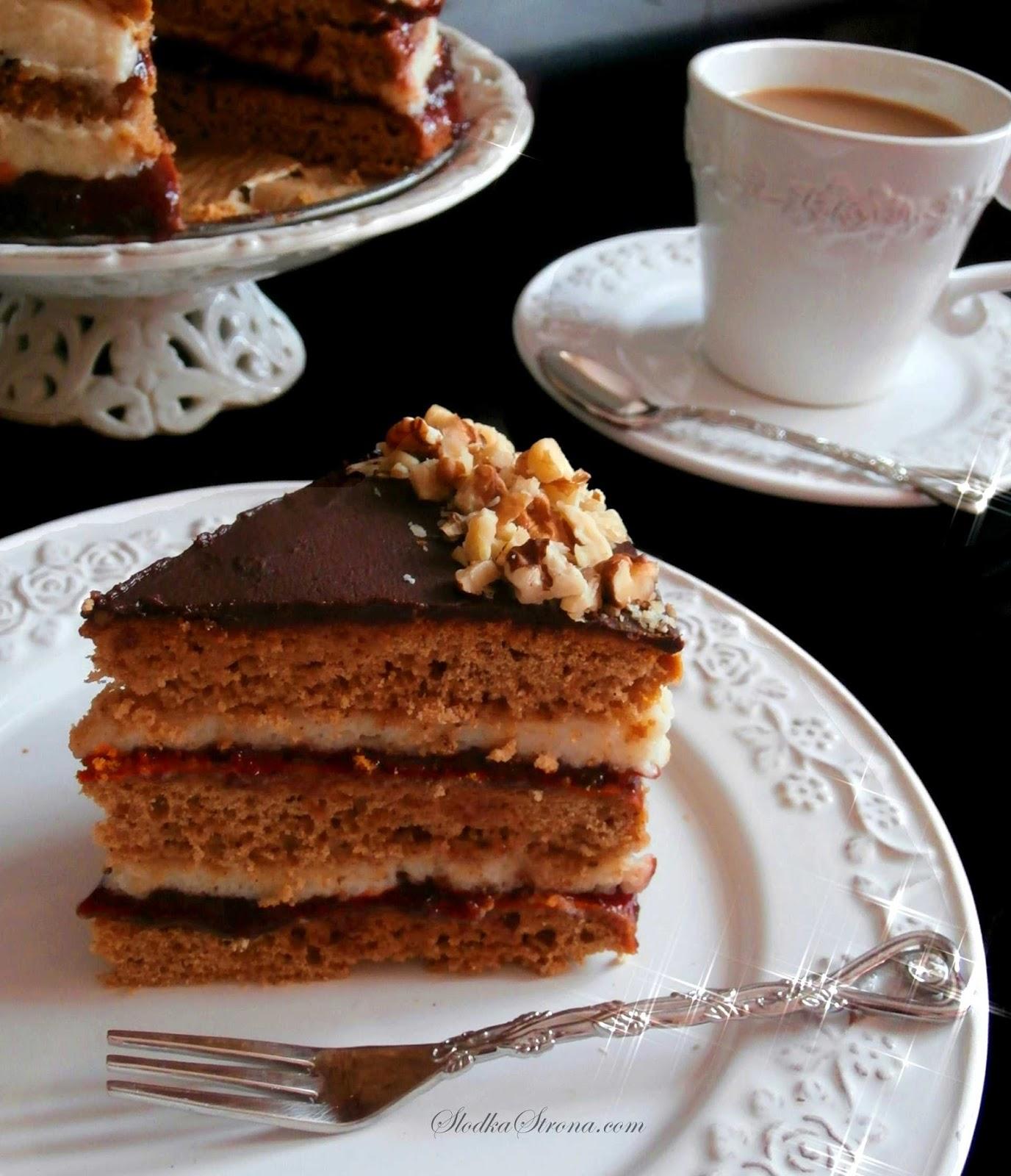 Tort Piernikowy - Przepis - Słodka Strona