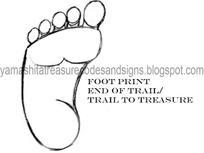 Foot Symbol In Your Dig Site Yamashita Treasure Codes And Signs