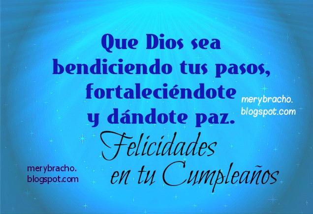 Mensaje Cristiano Lindo de Cumpleaños, postales cristianas.
