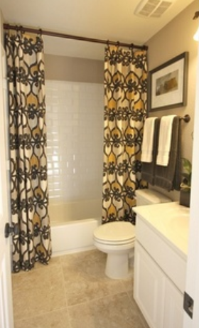 This Custom Shower Curtain Adds Personality And Color To The Room