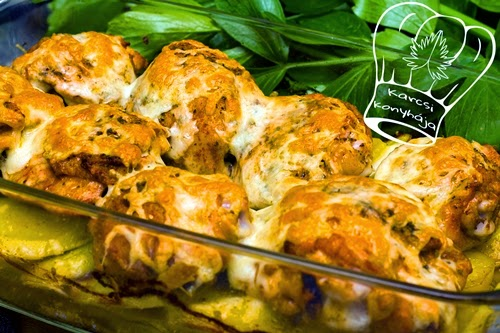 csirkecomb krumpliágyon, csirkecomb, krumpli, gasztronómia, krumpli, burgonya
