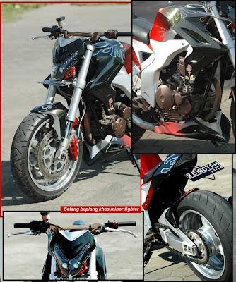 Modifikasi Yamaha Scorpio on Modifikasi Yamaha Scorpio   Kalajengking Streetfighter