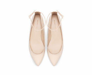 Zara Pointed Ballerina with Ankle Strap