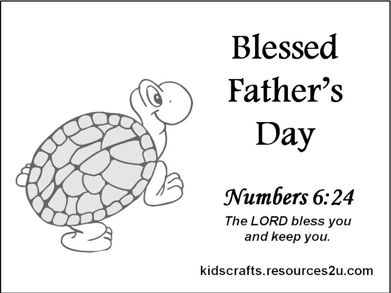 RCC9f Christian Happy Father2527s Day Card Coloring