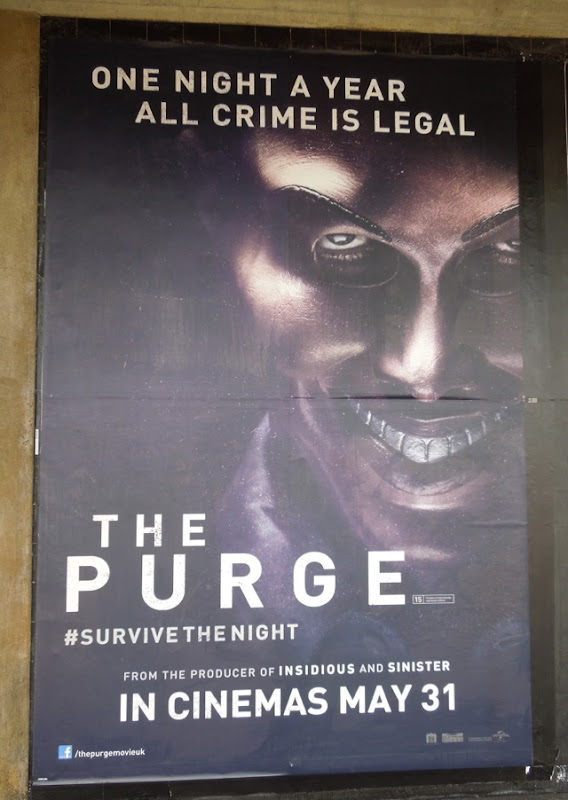 Purge London underground movie poster