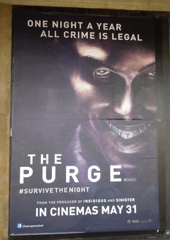Purge London underground movie poster