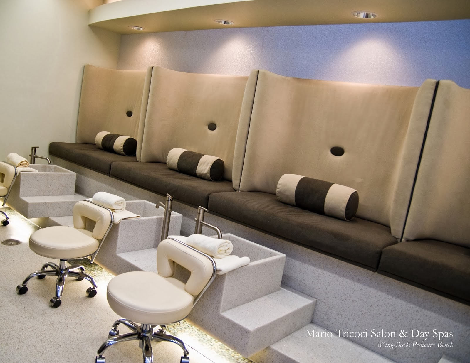 Michele pelafas nail spa salon design for Interieur design salon