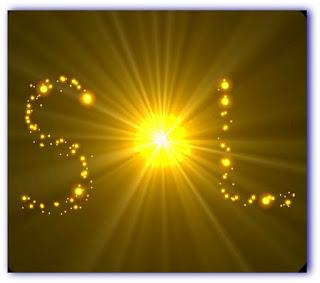 """imagem da palavra """"Sol"""" estilizado com brilho"""