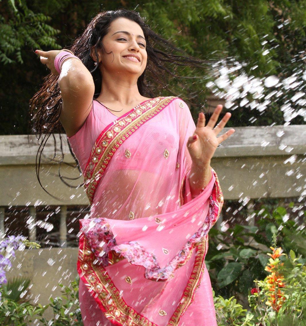 Trisha Krishnan Photos in Pink Saree from Kalavathi