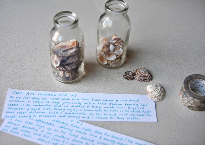 Bottling shells and holiday memories - by Alexis at www.somethingimade.co.uk