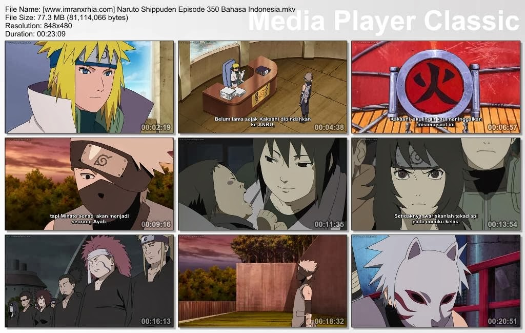 "Download Film / Anime Naruto Episode 350 ""Kematian Minato"" Shippuden Bahasa Indonesia"