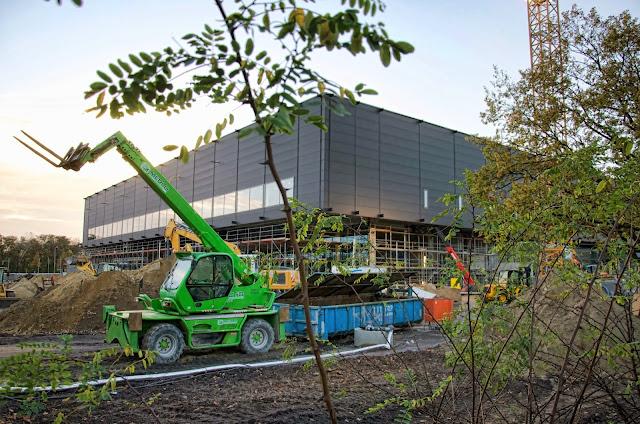 Baustelle CCB, Neubau Citycube Berlin, Messedamm /Jaffeestraße, Ehemalige Deutschlandhalle, 14055 Berlin, 06.11.2013