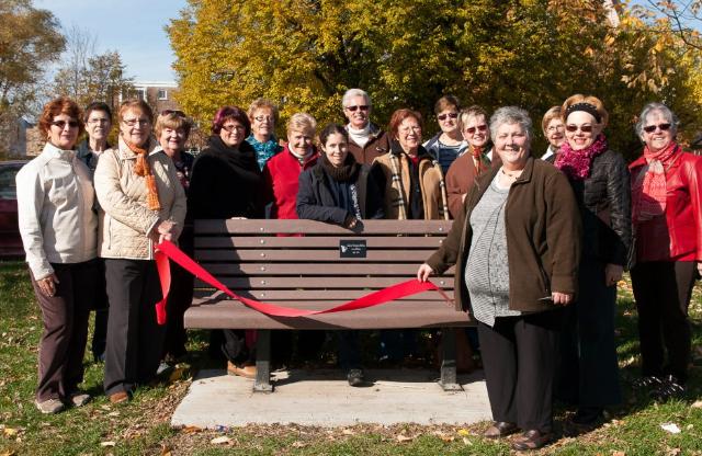 2012 - Inauguration de notre banc