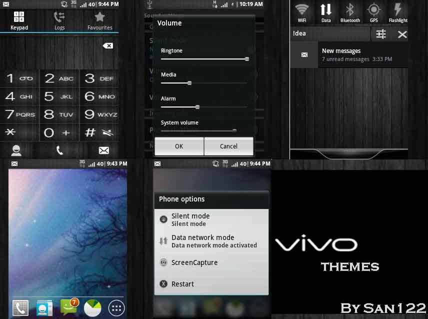 Vivo wood Themes for galaxy y