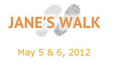anuncio de Janes's Walk los días 5 y 6 de Mayo de 2012