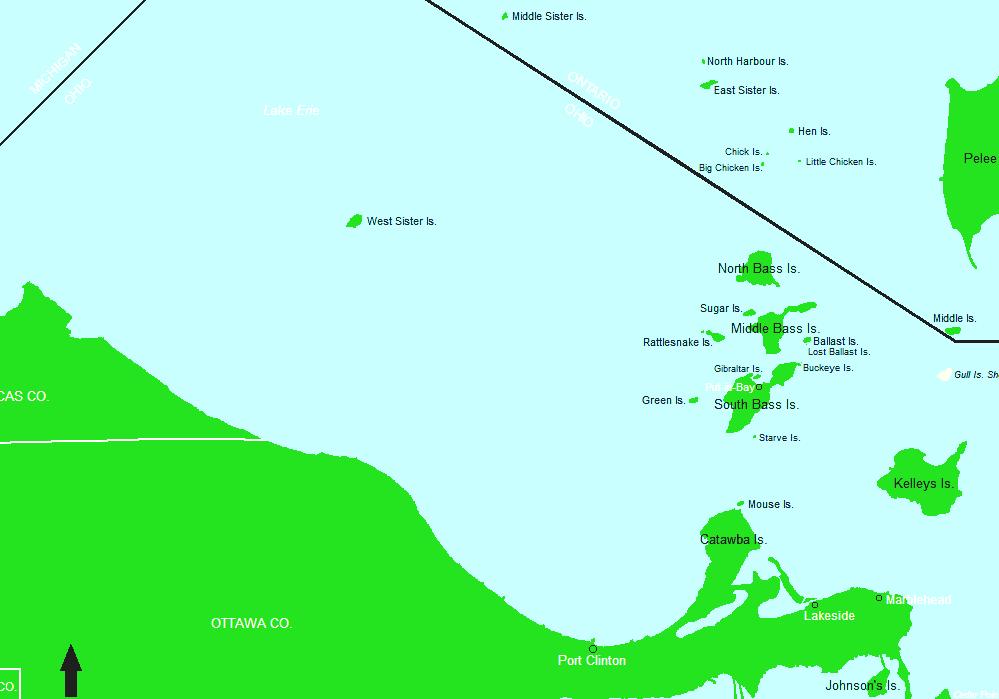 Indian Island Lake Erie Lake Erie Topographic Map - Lake erie topographic map