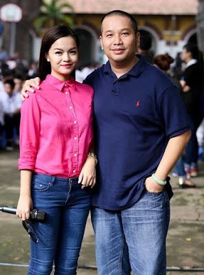 Vợ chồng Phạm Quỳnh Anh - ông bầu Quang Huy