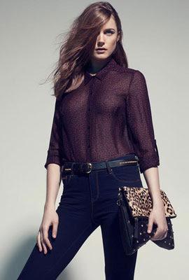camisa mujer Stradivarius invierno