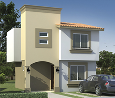 Fachadas de casas modernas octubre 2012 for Modelos de casas con terrazas modernas