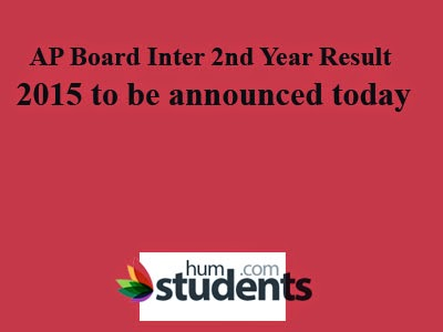 AP Board Inter 2nd Year Result 2015 to be announced today