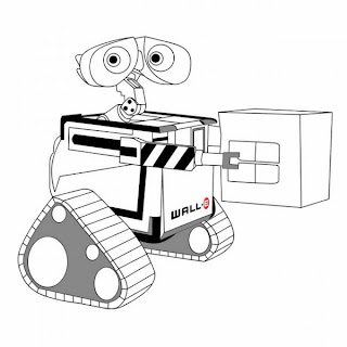 uncolored wall-e