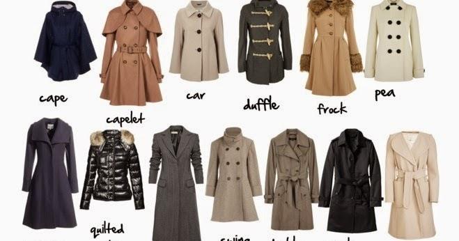 Rachel´s Fashion Room: Tipos de abrigos