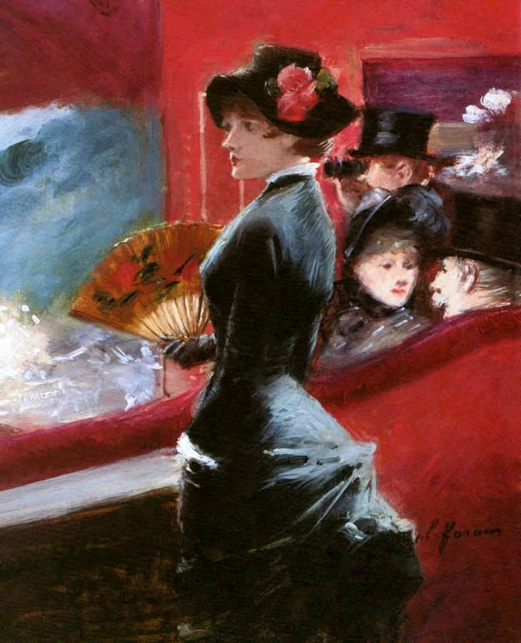 Рaаштинки РїРѕ запшосђ giclee print: la loge, c.1891 by jean louis forain at art.com: size: 24x18in