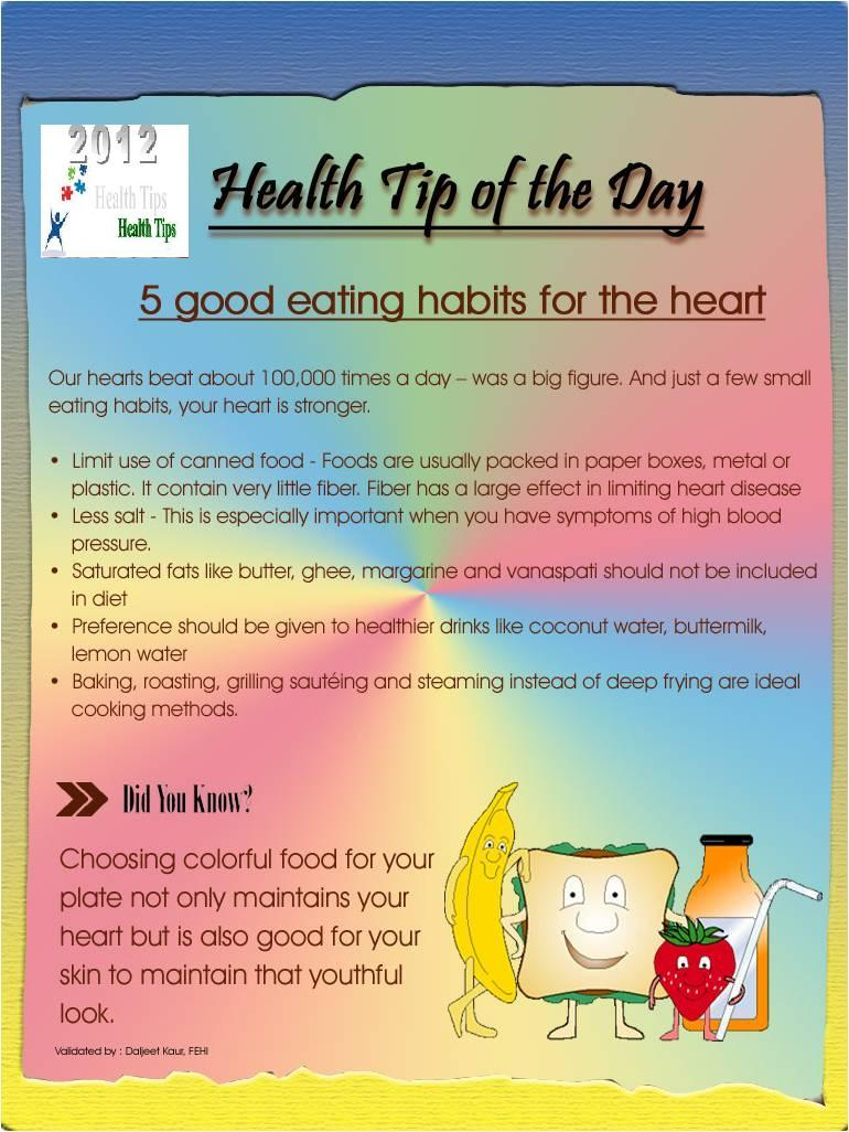 good eating habits Healthy eating habits start at home updated: everyone develops good eating habits together and the quality time with the family will be an added bonus.