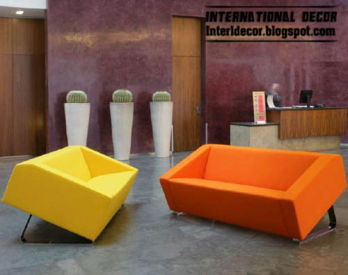 modern sofas red orange models modernsofas - Modern Sofas