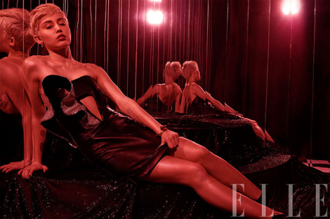 Miley Cyrus by Michael Thompson for Elle May 2014