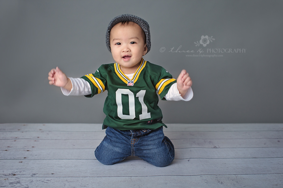 Boy in Sports Theme Photo