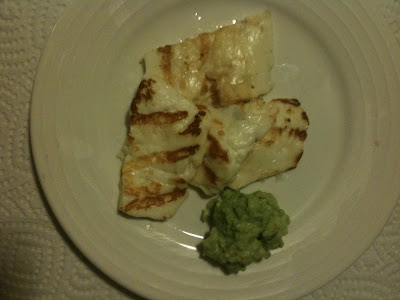 grilled haloumi with guacamole