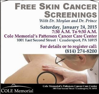 1-24 Free Skin Cancer Screenings