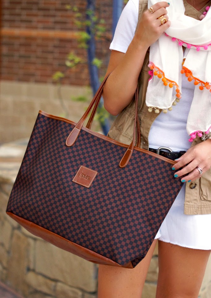 Barrington Gifts St. Anne Check Tote