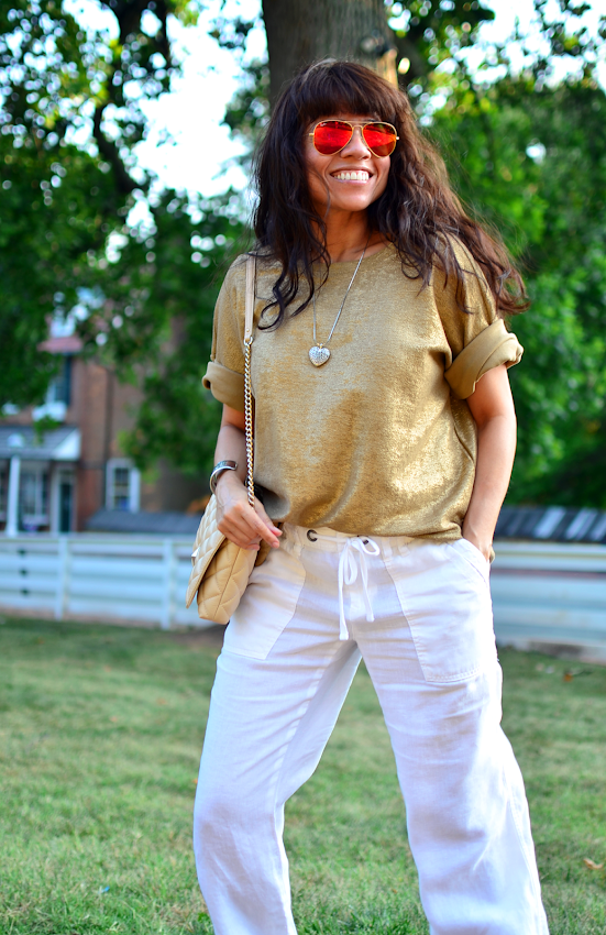 How to wear the metallic trend