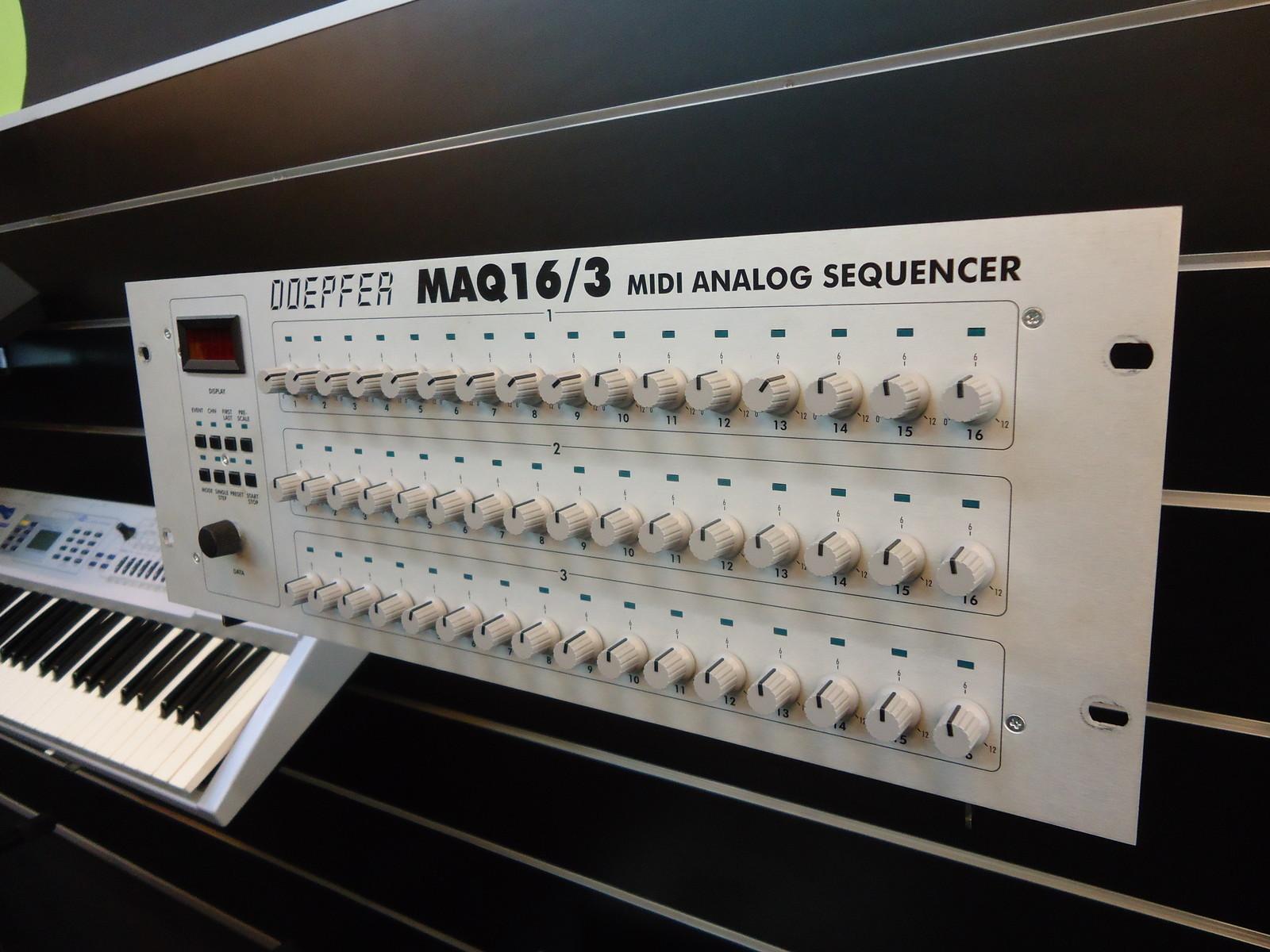 matrixsynth  doepfer maq16  3 midi cv analog sequencer