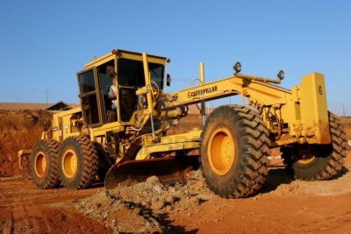 Earth moving equipment and machinery for road construction