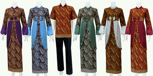 Gambar Baju Busana Muslim Batik Lebaran Terbaru Trend Model 2014