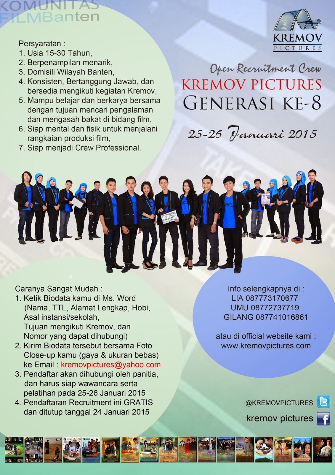 Kremov Buka Recruitment Crew Generasi Ke-8 !