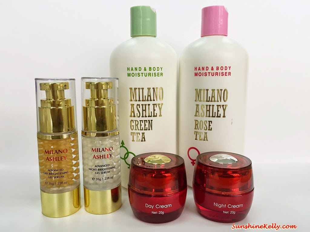 Beauty Review, Milano Ashley, Doctor BAi, Milano Ashley Advanced Day Brightening Gel Serum, Milano Ashley Advanced Night Brightening Gel Serum, Doctor BAi Collagen Shiffon Day Cream, Doctor BAi Collagen Shiffon Night Cream, Milano Ashley Green Tea Lotion, Milano Ashley Rose Tea Lotion, Skincare, Citra Mulia